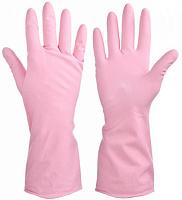 Перчатки резиновые VETTA прочные с запахом розы M 447-040
