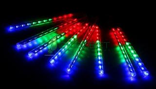 """Гирлянда уличная """"Сосульки малые"""", Ш:2,4, В:0,2 м, нить силикон,LED-96-220V, МУЛЬТИ"""