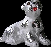 """004set Дек.пласт. стат. """"Серебро-собаки"""" Символ года 2018"""