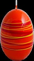 Свеча Яйцо полосатое 70*100