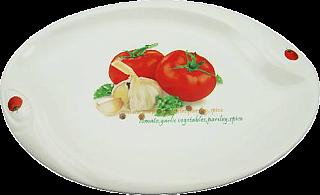 Блюдо для закусок MS20_0006 (25,5x17x2,5 см)