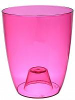 Кашпо ОРХИДЕЯ D160смм.розовый прозрачный М3149