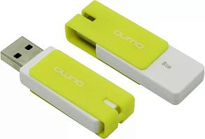 Флэш-диск  QUMO 08 Gb Click Lemon (цвет лимон)