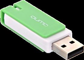 Флэш-диск  QUMO 08 Gb Click Mint (цвет мята)