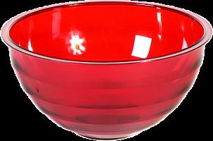 """Салатник """"Венеция"""" 1,8л. (красный п/прозрачный) 218-193 00712000 ИК"""