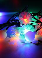 Светодиодная гирлянда КОСМОС 30, новог игрушки мультиколор,  4,4м, 8 режимов KOC_GIR30LEDMIX1_RGB