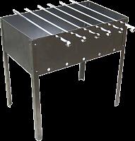 Мангал 400х250х140 (5 шампуров уголок 370х10х0,5) в пленке  и в чехле  (0,5мм) М-31