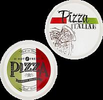 Блюдо для пиццы, керамика, d30,5см, 2 дизайна