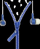 Внутриканальные стерео наушники 4700 SmartBuy® TRACER, провод в виде молнии, синие (арт. SBEWOW-4700)/35