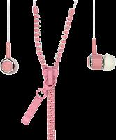 Внутриканальные стерео наушники 4600 SmartBuy® TRACER, провод в виде молнии, розовые(арт.SBEWOW-4600)/35