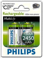 Акк. PHILIPS HR6-4BL 2450mAh + АДАПТОР С