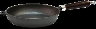 Сковорода VETTA d 26x5 см чугун (дерев.ручка) 808-007