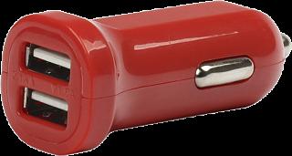 Автомобильное ЗУ SmartBuy CAR CRAFT 2.1А x 2USB, универсальное, красное (SBP-8320)/100