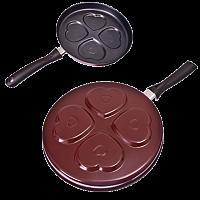 Сковорода с антипригарным покрытием для оладий, угл сталь d27x3,5см, 2 дизайна