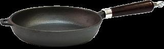 Сковорода VETTA d 24x5 см чугун (дерев.ручка) 808-006