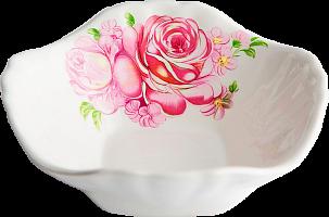 """Салатник 350см3, гр. 8, """"Розовые розы""""     (18)     047"""