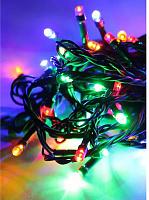 Светодиодная гирлянда КОСМОС 80 светодиодов, мультиколор,  8,8м, KOC_GIR80LED_RGB 8 режимов мигания