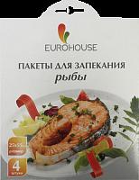 Пакеты для запекания рыбы, 4 шт, 25*55 см. с завязками