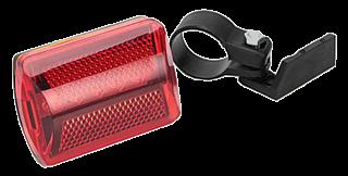 Фонарь велосипедный задний 7 режимов, 5 диодов, пит.батар. 2xААА, красный 195-014
