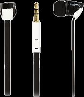 Внутриканальные наушники SmartBuy® TECHNA,  плоский кабель, черн/белые (SBE-7200)