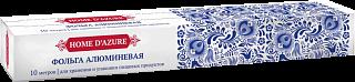Фольга алюминиевая в картонном коробе,  ТМ HD, толщина 11 мкм, 10м (10612 из короба 1/24)