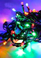 Светодиодная гирлянда КОСМОС 100 светодиодов, мультиколор,10,8м, KOC_GIR100LED_RGB 8 режимов мигания