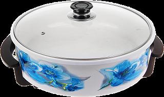 Печь-сковорода Вел. реки Волшебница-5 (36см) Голубые цветы!