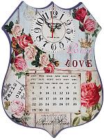 Часы настенные, МДФ, 40х30см, 1хАА, Сюжетные с Розами 581-652