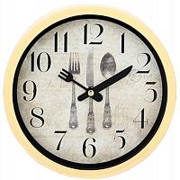 """Часы настенные """"Столовые приборы"""" 20см, пластик, 2 вида, 1xAA 581-508"""