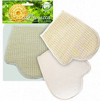 Мочалка-рукавица для тела,сезаль TLс 411/ТЕКОС