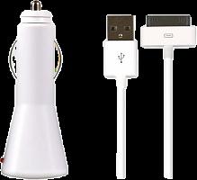Автомобильное ЗУ SmartBuy® NOVA, 2.1А, кабель iPhone 4/iPad 30pin (SBP-1100)/100