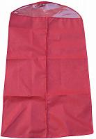 """Чехол для одежды с ПВХ-окном """"Элегант"""" красный 130*70 см нетканое полотно 80 г/кв.м 6/60 11093"""