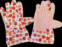 """Перчатки садовые """"Флер"""" р-р универсальный, хлопок с ПВХ, 1 пара на хедере, 12/300 (8362 из коро"""