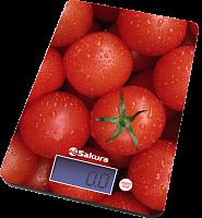 Весы кухон SA-6075T 8кг элек томаты