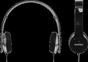 Полноразмерные наушники SmartBuy ONE, складная конструкция, плоский кабель, черные (SBE-9400)