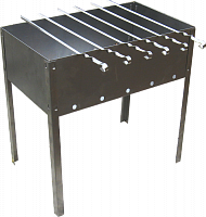 Мангал 500х300х140 (6 шампуров уголок 400х10х0,5) в коробке  (0,8мм) М-7