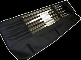 "шампура в наборе ""Рулон"" + таганок с шампурами  6шт (550*10*1,5) НР+Т"