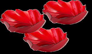 Набор фруктовниц Акри (красный п/прозрачный) 218-237 01012000 ИК