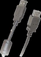 Шнур  удлин USB A  -  гн USB A 3м, USB 2,0 2 феррита 461-3