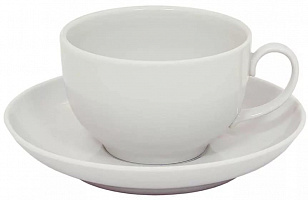 Чашка с блюдцем 210мл Янтарь Белая 11042
