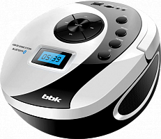 Аудиомагнитолы BBK BS10BT бел/черн