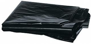 Мешки мусорные 120л, ПНД, 19 мкм, 70*110 см, черные, 10 шт в рулоне, 1/40 (9075 из короба 1/40)