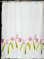 """Штора для ванной комнаты """"Розовые сны"""" 180*180 см сатин в упаковке с полноцветным вкладышем ПВХ"""