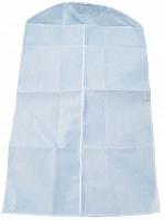 """Чехол для одежды с ПВХ-окном """"Элегант"""" белый 130*70 см нетканое полотно 80 г/кв.м 6/60 (11091"""