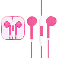 Гарнитура iPhone 5/6 Earpods розовый