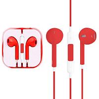 Гарнитура iPhone 5/6 Earpods красный