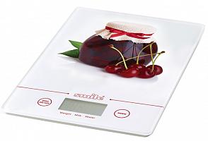Весы без упаковки SMAILE KSE 3219  кух. элект. вишня