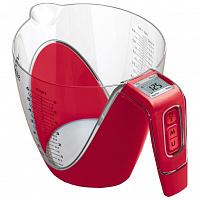 Весы без упаковки кухонные Viconte VC-518 (Стакан) красный