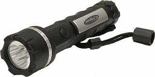 Фонарь без упаковки 2056LED влагозащищенный  3*LED 3*R20(D) прорезиненный фонарь в половинчатом блистере