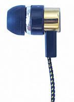 Наушники MP3 SWEET MELODY ткань техупаковка черный/золото
